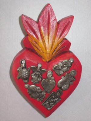 JGA133 WOODEN HEART 10 X 6 CM (Medium)