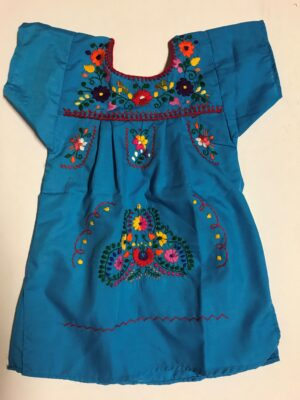 SRQ01 BLUE SIZE 1 GIRLS DRESS