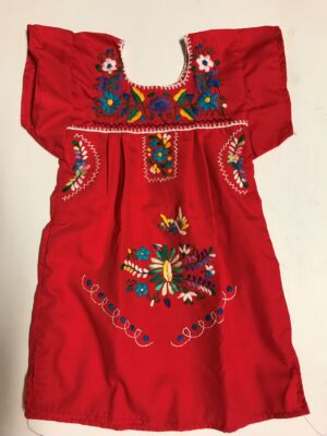SRQ02 RED SIZE 2 GIRLS DRESS