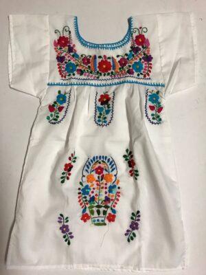 SRQ02 WHITE SIZE 2 GIRLS DRESS