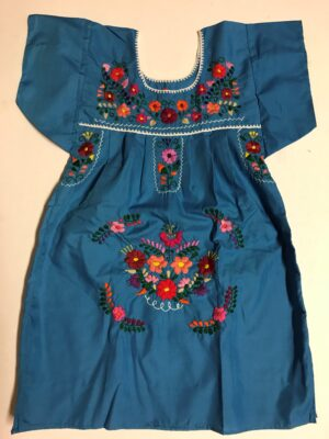 SRQ03 BLUE SIZE 4 GIRLS DRESS