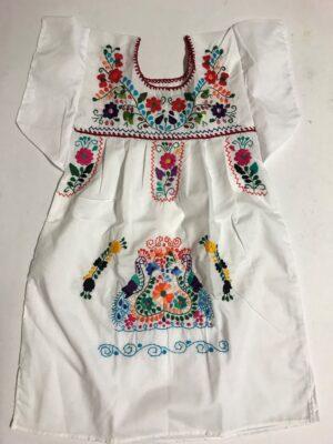 SRQ03 WHITE SIZE 4 GIRLS DRESS