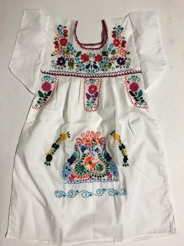SRQ03 WHITE SIZE 4 GIRLS DRESS