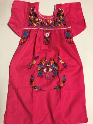 SRQ04 PINK SIZE 6 GIRLS DRESS