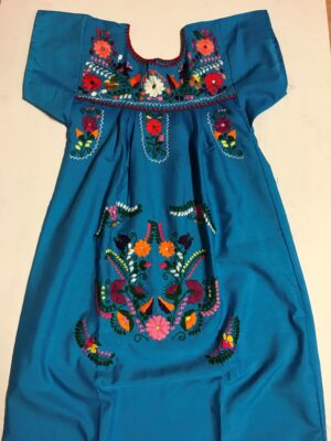 SRQ36 BLUE SIZE 8 GIRLS DRESS