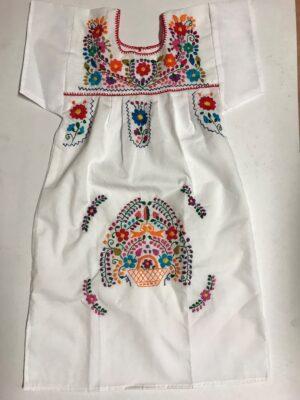 SRQ36 WHITE SIZE 8 GIRLS DRESS 26.90