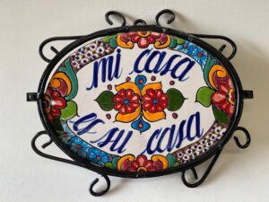 WROUGHT IRON TALAVERA HOME SIGN